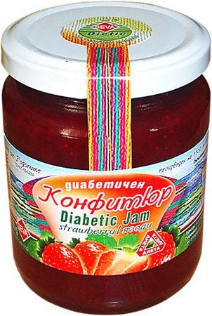 Диабетичен конфитюр от ягоди