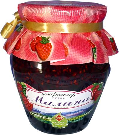 Extra raspberry jam 380g